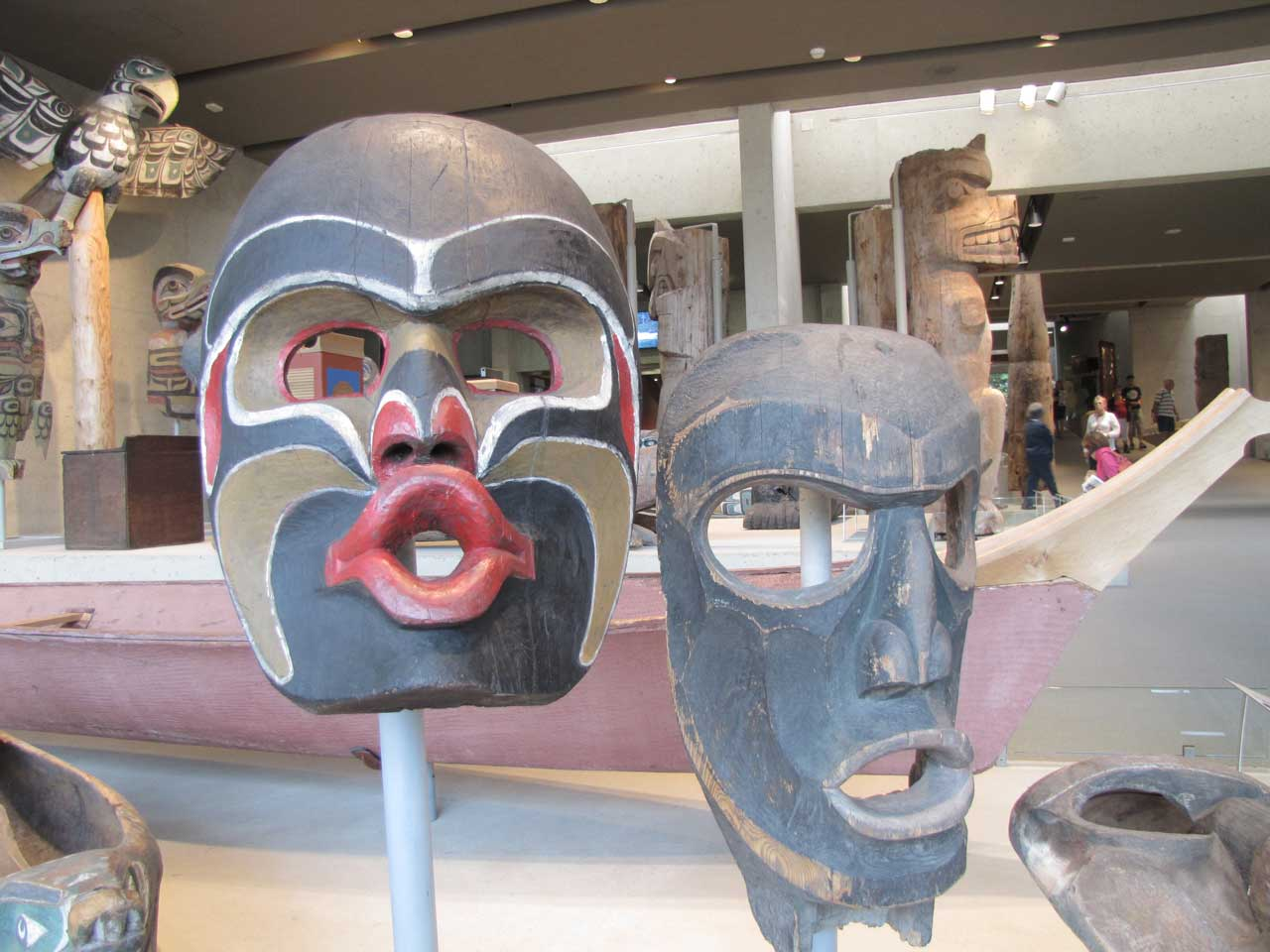 Nanaimo arts and culture native carvings at a museum