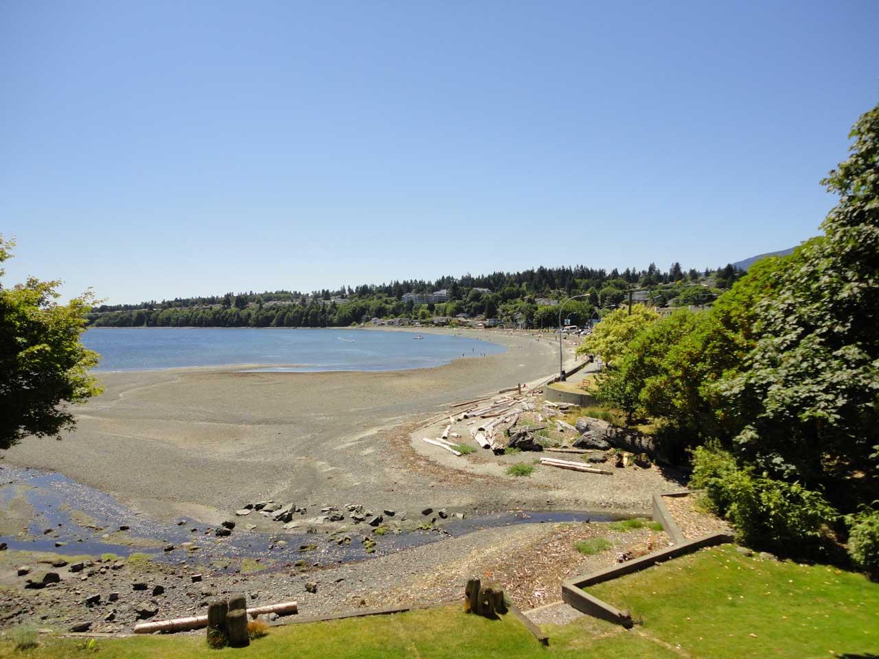 Vancouver Island beach on a sunny day