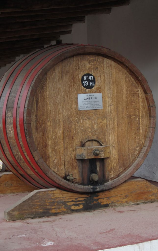 Large wine barrel from west coast Canadian Wineries