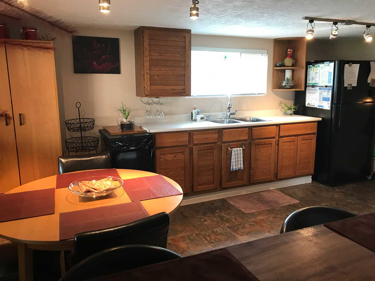 Lakeview rental homes garden apartment kitchen