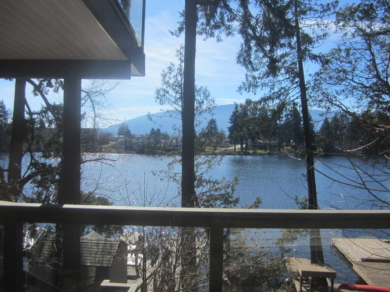 Lakeside suite view of Long Lake in Nanaimo executive rental home