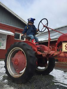 Farm fun on a tractor on Vancouver Island